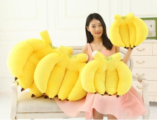 おもしろ 抱き枕 可愛い バナナ ぬいぐるみ  部屋クッション 果物 プレゼント ギフト 抱き枕 55cm
