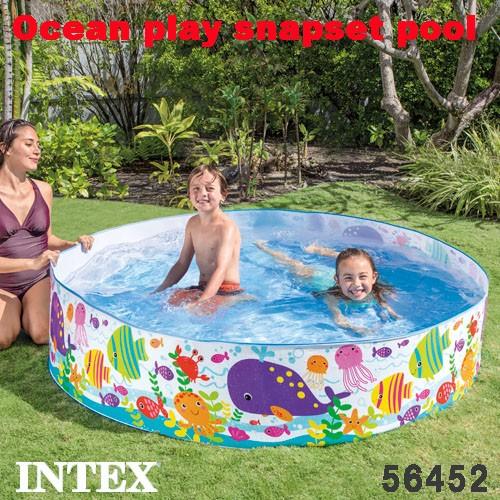 プール ベビープール 子供用 オーシャンプレイスナッププール 183×38cm 魚柄 56452 INTEX インテックス 日本正規品