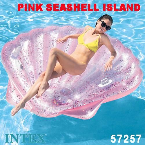 浮き輪 フロート ピンクシーシェルアイランド 178×165×24cm 57257 日本正規品 intex インテックス