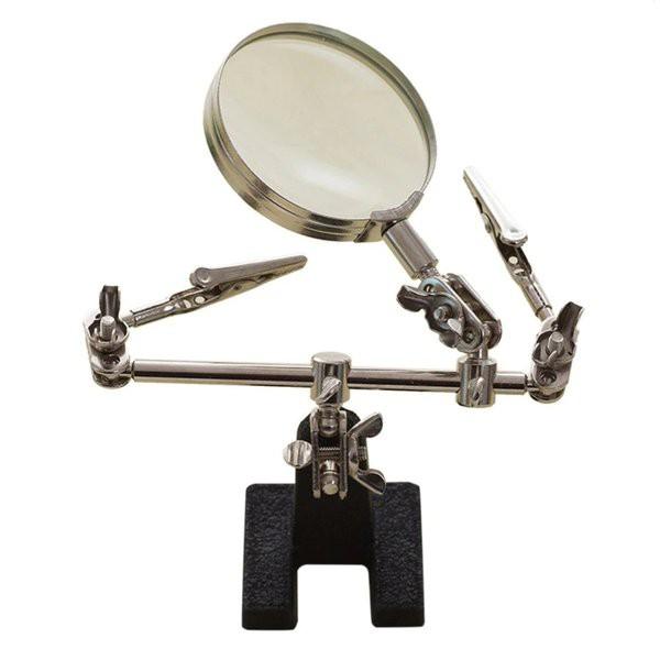 半田ごて こて台 固定アーム 作業台 DIY スタンドルーペ 拡大鏡