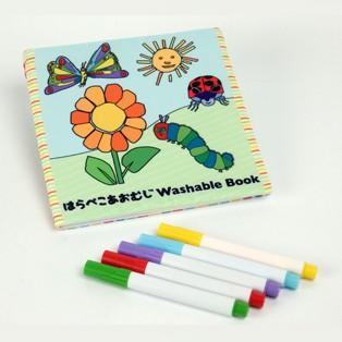 はらぺこあおむし ウォッシャブルブック 新品 メール便 送料無料 グッズ 知育玩具 おもちゃ お絵かき 洗える絵本 塗り絵