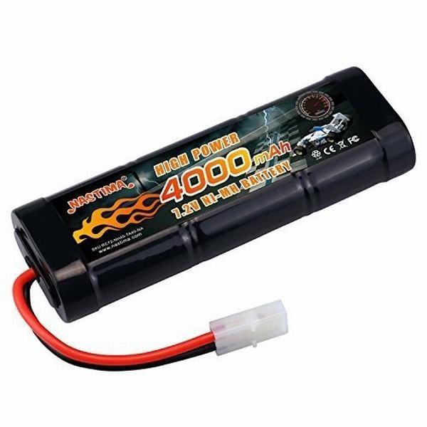NASTIMA 7.2v ニッケル水素バッテリー 超大容量4000mAh ラジコン バッテリー 多種類のRCカー用 タミヤコネクター付き