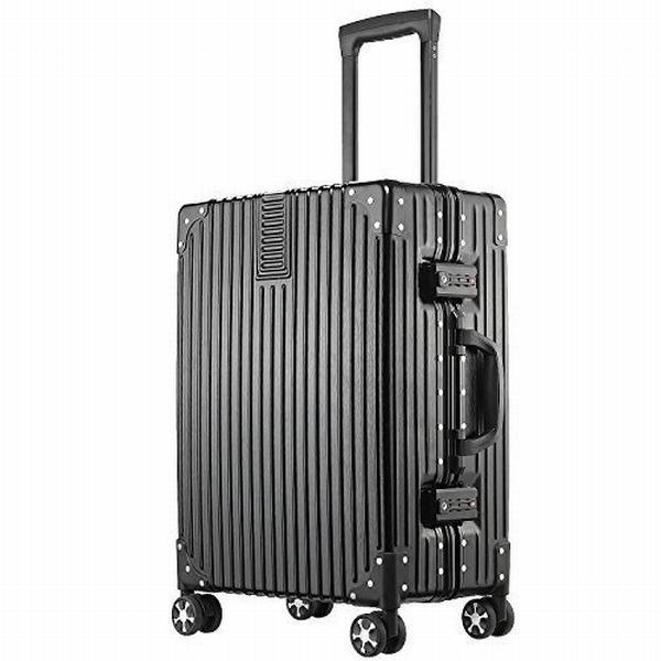(アスボーグ)ASVOGUE スーツケース キャリーケース TSAロック 半鏡面仕上げ アライン加工 アルミフレーム レトロ