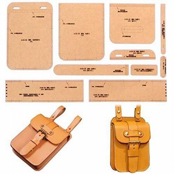 (Island Puppy) レザークラフト クラフト硬質紙 型紙 革 バッグ 長 財布 ロング ウォレット 各種 (ウエストスクエ