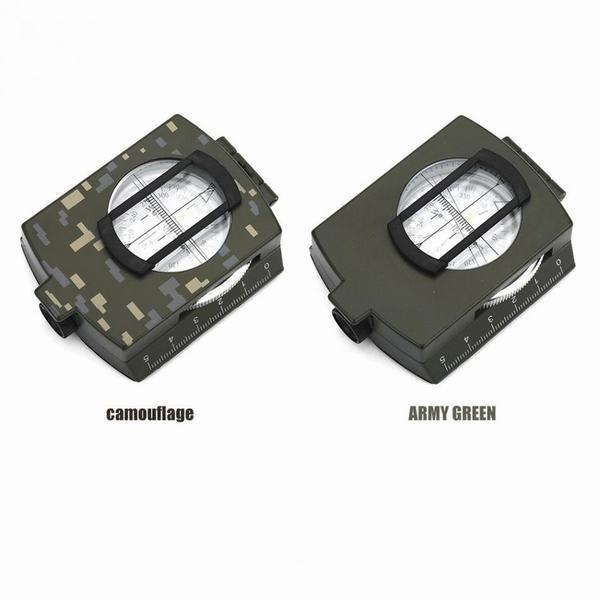 サバイバルコンパス キャンプ 軍事照準発光レンズ 防水 コンパス 地質 デジタルコンパス 屋外機器 camouflage