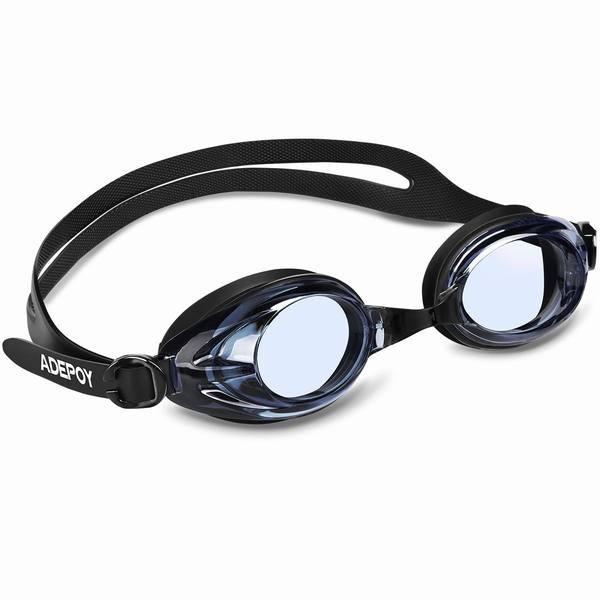 AdePoy スイミングゴーグル スイム ゴーグル 水泳ゴーグル 水中メガネ くもり止め加工 UVカット 水漏れ防止 サイズ調節可
