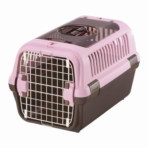 リッチェル キャンピングキャリーダブルドア Mサイズ 小型犬?猫用 ライトピンク ペット用品 猫 キャリー カート