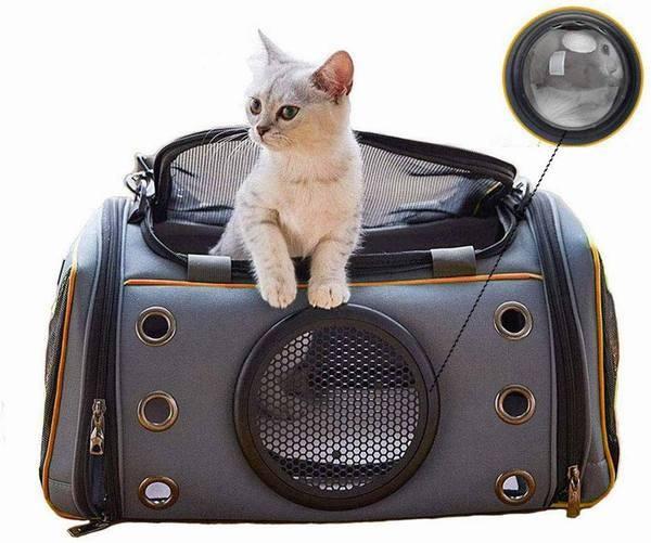 ペットバッグ キャリーバッグ 猫 小型犬 ショルダーバッグ 宇宙船カプセル型 ペットキャリー ケース ペット用 多機能3wayの犬用 猫用バッ