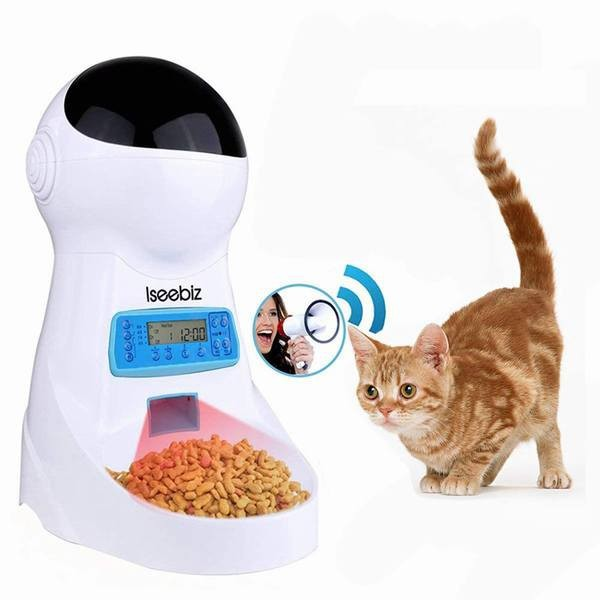 自動給餌器 猫 犬 うさぎ 自動餌やり機 自動給餌機 オートフィーダ タイマー 録音 2WAY給電 3.5L ペット用品 猫 餌やり 水やり用品 自動
