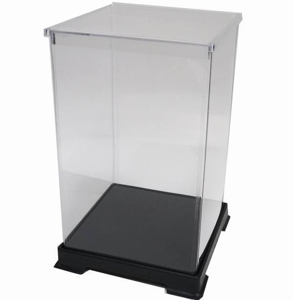 かしばこ商店 透明フィギュアケース 151524 プラスチック 組立式 W150 D150 H240mm ディスプレイケース ディスプレイケース ディスプレイ