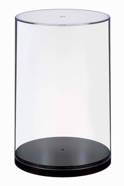 ウェーブ ディスプレイ Tケース (CM) 1/12スケールフィギュア対応 プラスチック製 高さ172mm 直径111mm ディスプレイケース