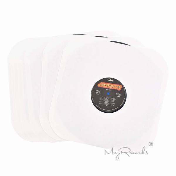 12寸レコードケース LP用100g紙製クラフト保護袋内袋ジャケットスリーブ ホールあり 角なし オープン開口式 20枚