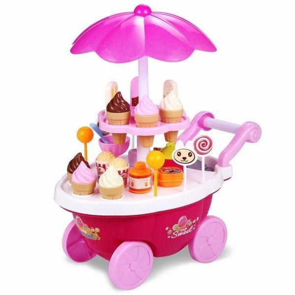おままごと セット 音と光の出る アイスクリーム 洋食屋 女の子 おもちゃお店屋さん 子供 能力を育てる 知育玩具 お誕生日 プレゼント