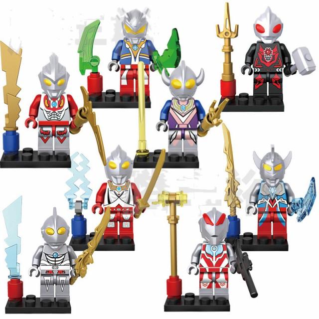 ミニフィグ ウルトラマン 8体セット レゴ 互換 LEGO ミニフィギュア ブロックおもちゃ キッズ 子ども