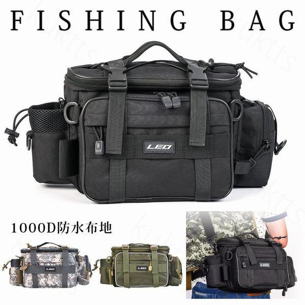 フィッシングバッグ ワンショルダー バッグ 大容量 軽量 タックルバッグ ランガン 釣りバッグ アウトドア 便利