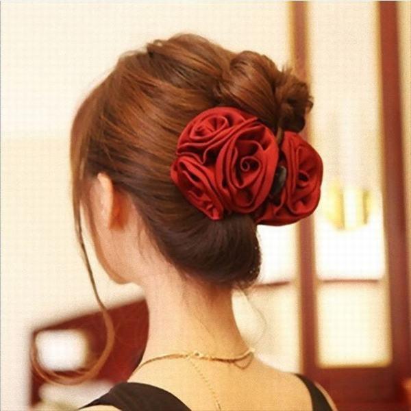 ヘッドドレス 髪飾り ヘアアクセサリー ビッグ 花 フォーマル ブライダル お呼ばれ ヘッドアクセサリー ウェディング 和装 着物 レディー