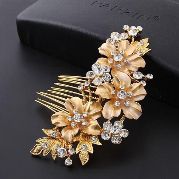 ヘッドドレス 髪飾り ヘアアクセサリー ゴールド フォーマル ブライダル お呼ばれ 振袖 結婚式 レディース ヘッドアクセサリー 和装 着物
