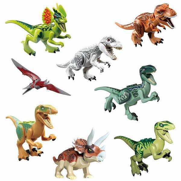 ミニフィグ 恐竜 8体セット レゴ 互換 LEGO ミニフィギュア ブロック おもちゃ 子供 キッズ