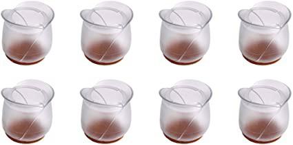 テーブル 脚 カバー 椅子 キャップ 傷防止 騒音防止 形4種類 8個セット GJZJD-01「花型」#10(内径長さ50*高さ60mm) [並行輸入品]
