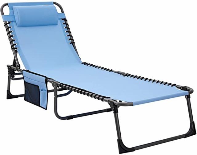 ベッド ビーチベッド 折りたたみベッド テスリン コット キャンプ 4段階調整 背もたれ椅子 背もたれベッド 日焼け止め 耐荷重120kg アウ