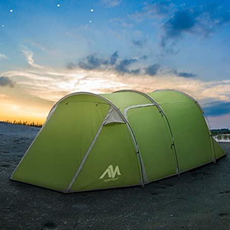 テント 2ルーム 前室付き 3人用 ツールーム 4人用 ツーリングテント キャンプテント 大型 トンネル型 日よけ 防雨 通気 メッシュ 軽量 コ