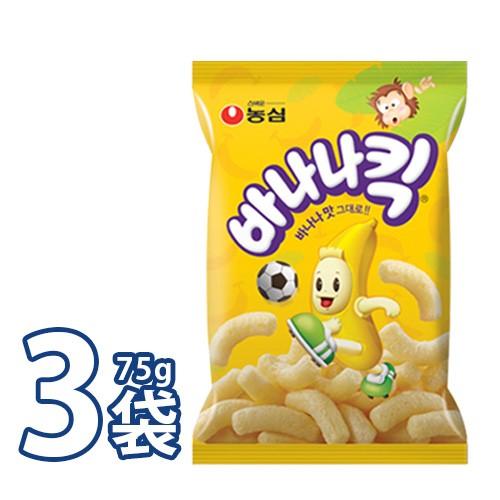 送料無料 農心 バナナキック 75g X 1袋 韓国食品 お菓子 スナック菓子 韓国お菓子 k韓国おやつ