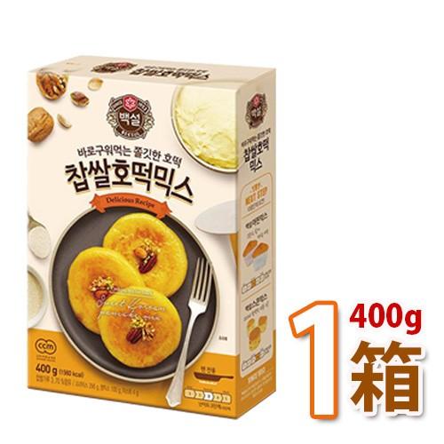 白雪 もち米ホトックミックス 400g 1箱 (8枚分) 韓国屋台の定番おやつ 韓国食品 韓国 韓国お菓子 韓国お餅 もちもち 手作り ホトック