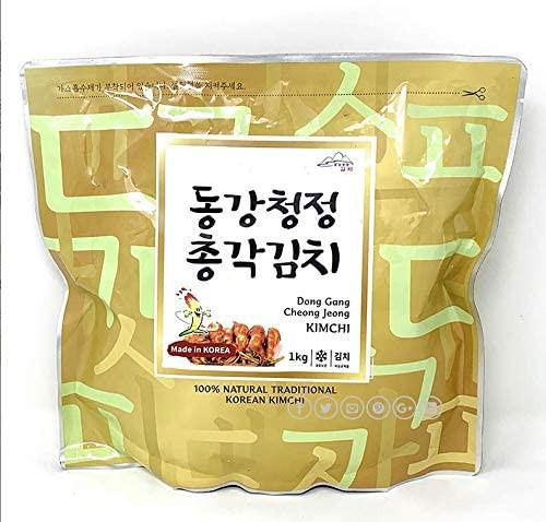 送料無料 江原東江 ガンウォンドンガン チョンガクキムチ(大根キムチ)1kg x 1袋 (01111x1)
