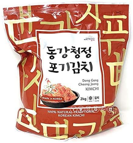 送料無料 おいしいキムチ 韓国で漬けました!江原東江 ガンウォンドンガン 白菜キムチ2kg x 1袋 乳酸菌たっぷりキムチ 韓国人が褒めるキ