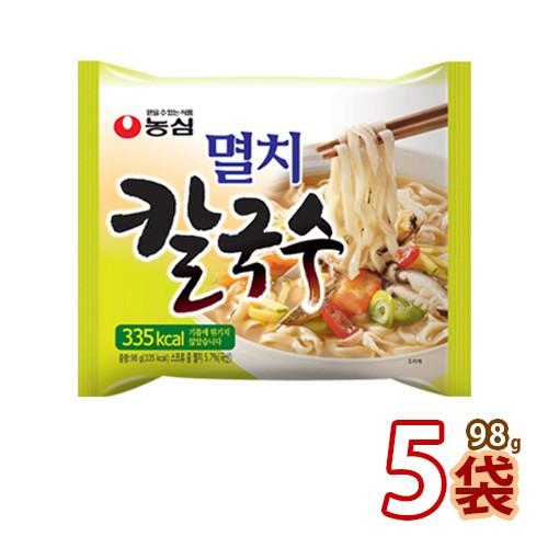 【農心】イワシ カルクッス ★ 98g x 5袋 ★ 韓国ラーメン インスタントラーメン カルクッス 韓国うどん うどん ラーメン 韓国食品 輸入