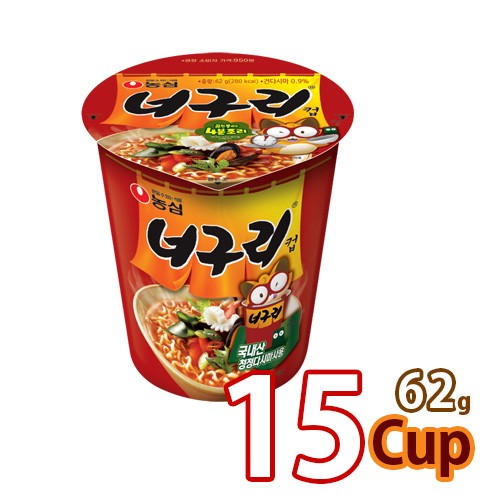 【農心】ノグリ カップ麺 ★ 62g x 15カップ ★ 【小カップ】 ■韓国食品 輸入食品 韓国食材 韓国料理 韓国お土産 韓国ラーメン 非常食