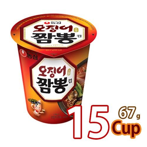 送料無料 農心 イカチャンポンカップ麺69gx15個 (01041x15)