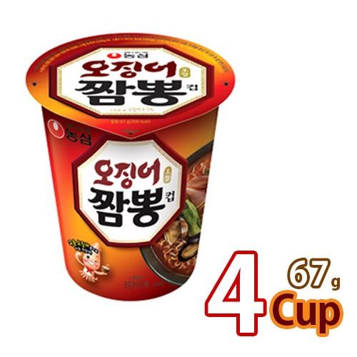 送料無料 農心 イカチャンポンカップ麺69gx4個 (01041x4)