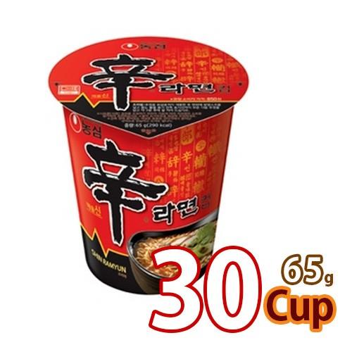 送料無料 農心 辛ラーメン (小)カップ65g x 30個 (1BOX) (01003x30)