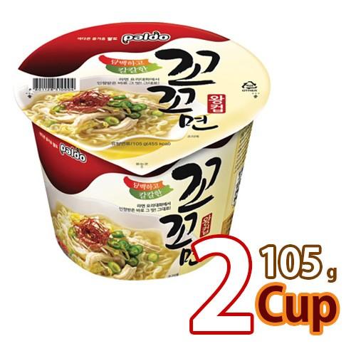【八道】ココ麺 カップ ★ 105g x 2個 ★ 韓国ラーメン インスタントラーメン コッコメン ココメン 白いスープ (韓国風チキンラーメン)