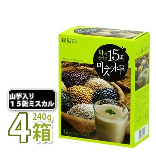 (08315x4)【無料配送】【ダムト】山芋入り15穀ミスカル (20g×12包) ★ 4箱★