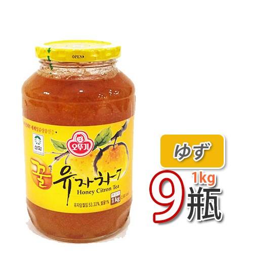 送料無料 はちみつ入りゆず茶 サンファ 三和 蜂蜜ゆず茶1kg x 9個 韓国茶 健康茶(08034x9)