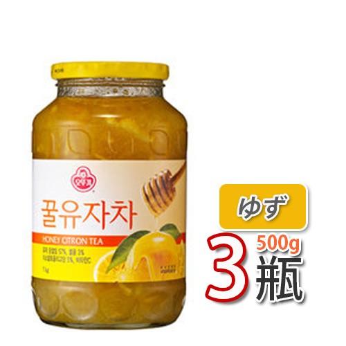 【三和】蜂蜜ゆず茶 ★ 500g X 3個 ★ ビタミンCがレモンの3倍!美味しく風邪予防!オットギ 韓国お茶 健康茶 韓国飲料 韓国ドリンク三和