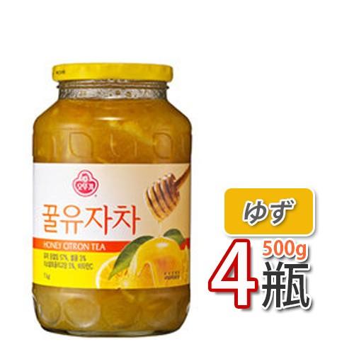 【三和】蜂蜜ゆず茶 ★ 500g X 4個 ★ ビタミンCがレモンの3倍!美味しく風邪予防!オットギ 韓国お茶 健康茶 韓国飲料 韓国ドリンク三和