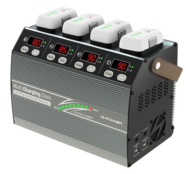 【大特価】【送料無料】 Multi Charging Dock for Phantom Smart Battery DJI Phantom3 Phantom4対応バッテリー4本同時急速充電対応充電