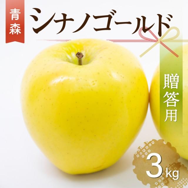 【 数量限定 】2021年産 青森県産りんご 贈答用 シナノゴールド 3kg(約9玉〜11玉)産地直送 工藤農園 お歳暮 ギフト 内のし付き