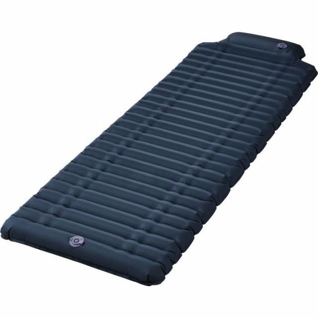 キングジム ポンプ一体エアーマット 災害対策 休息 睡眠 ベッド エアーベッド AMP-200 ネイビー