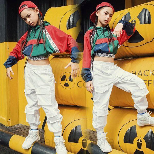 18551a420fe95 ダンス衣装 ヒップホップ ダンス 衣装 キッズ HIPHOP セットアップ 子供 女の子 トップス パンツ ジャズダンス ステージ