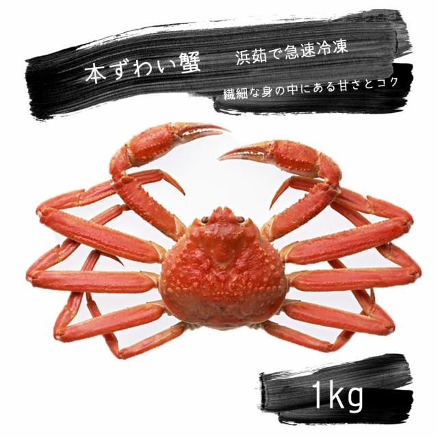 本ずわい蟹 1kg 茹で上げ急速冷凍