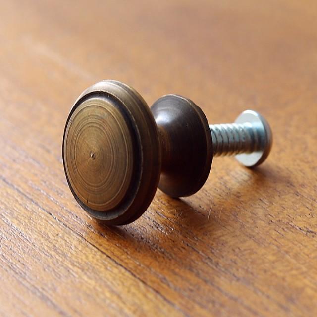 真鍮の取っ手(つまみ) ネジ(3サイズ)・ワッシャー・六角ナット付き メール便対応可 アジアン バリ家具 バリ雑貨 インテリア ココバリ