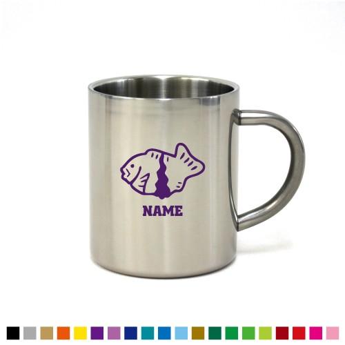 たい焼き 名入れステンレスマグカップ 真空二重構造 保冷 保温 断熱 コーヒーカップ 湯飲み 割れないマグカップ taiyaki、