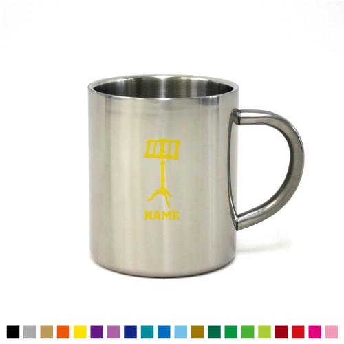 譜面台 名入れステンレスマグカップ 真空二重構造 保冷 保温 断熱 コーヒーカップ 湯飲み 割れないマグカップ 吹奏楽 楽器 オーケスト