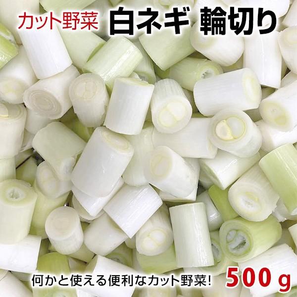 カット野菜 カットねぎ:白ねぎ 輪切り 500g