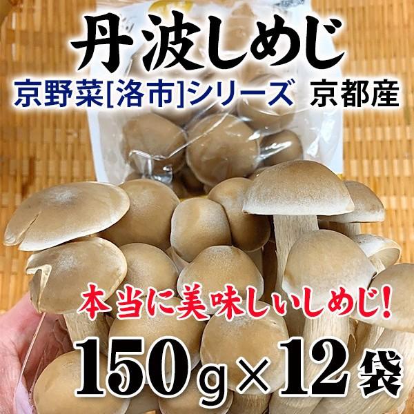 丹波しめじ 京都産 150g×12袋   京野菜「洛市」シリーズ