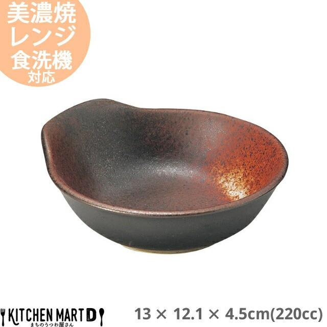 明志野(あきしの) 呑水 220cc 13×12.1×4.5cm 美濃焼 日本製 国産 とんすい 黒 茶色 陶器 鍋 玉子入れ すき焼き しゃぶしゃぶ ポン酢 ご